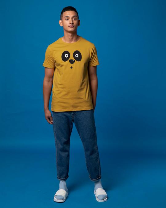 Shop Shocked Panda Half Sleeve T-Shirt