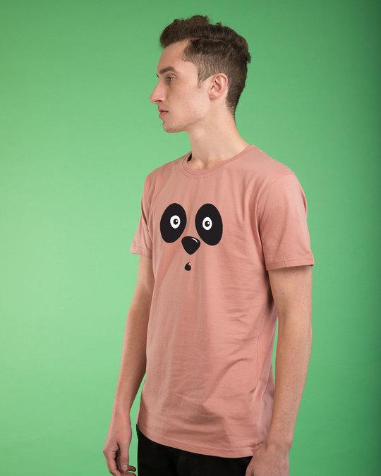 Shop Shocked Panda Half Sleeve T-Shirt-Full