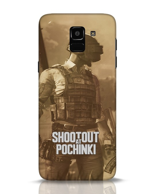 Shop Shoot Out At Pochinki Samsung Galaxy J6 Mobile Cover-Front