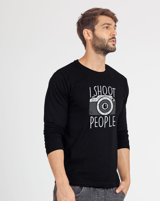Shop Shoot People Full Sleeve T-Shirt-Back