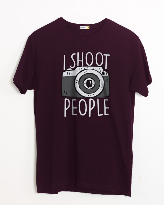 Shop Shoot People Half Sleeve T-Shirt-Front