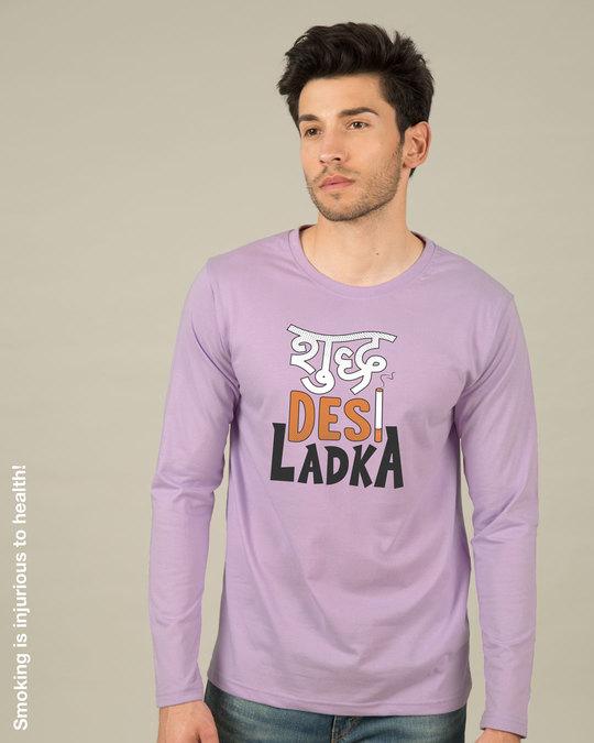 Shop Shudh Desi Ladka Full Sleeve T-Shirt-Front
