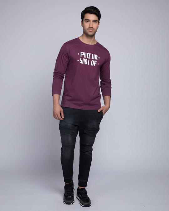 Shop Shut Up Full Sleeve T-Shirt (Hidden Message)