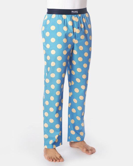Shop Smugglerz Sicilian Lemon Pyjamas Blue-Back