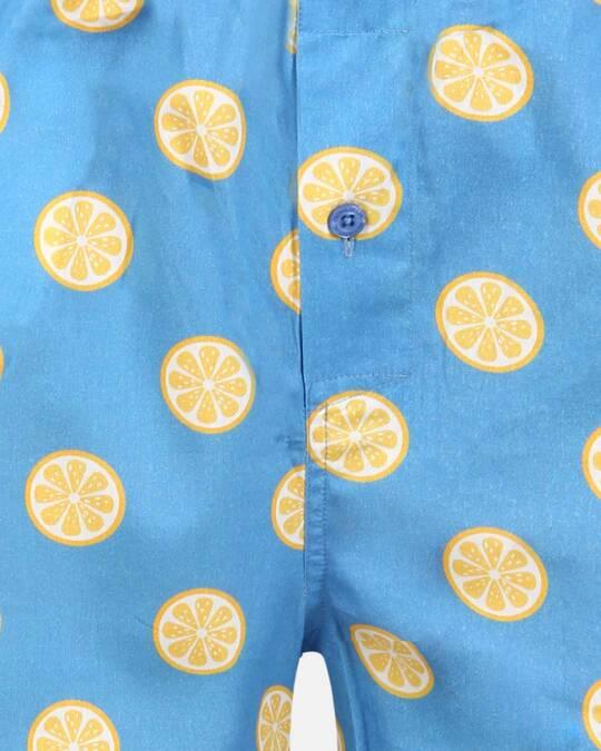 Shop Smugglerz Sicilian Lemon Pyjamas Blue