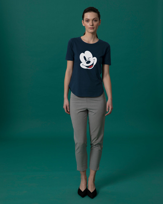 Shop Sideways Mickey Basic Round Hem T-Shirt (DL)-Full