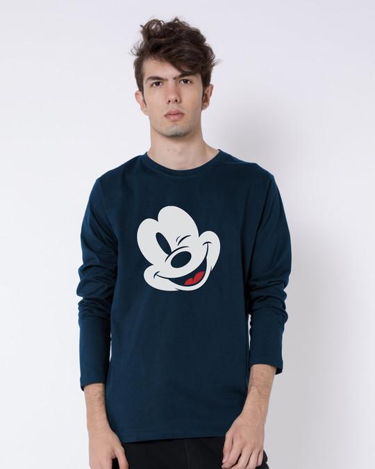 Shop Sideways Mickey Full Sleeve T-Shirt (DL)-Front