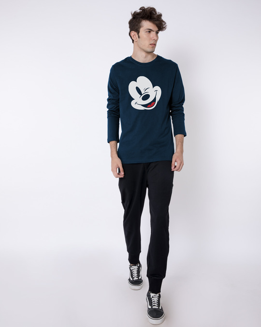 Shop Sideways Mickey Full Sleeve T-Shirt (DL)-Full