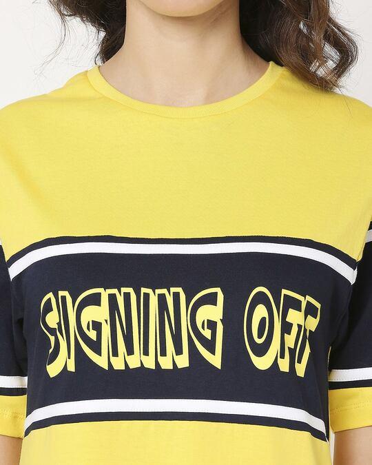 Shop Signing Off Color Block T-Shirt Dress
