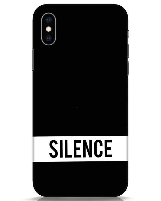 Shop Silence iPhone XS Mobile Cover-Front