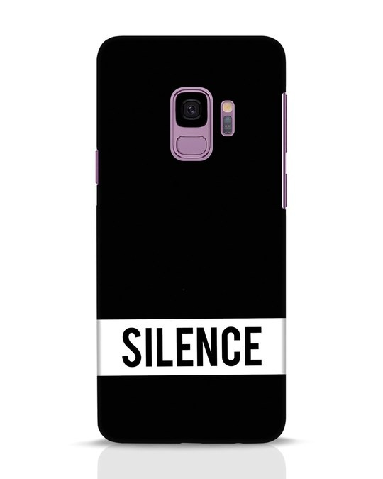 Shop Silence Samsung Galaxy S9 Mobile Cover-Front