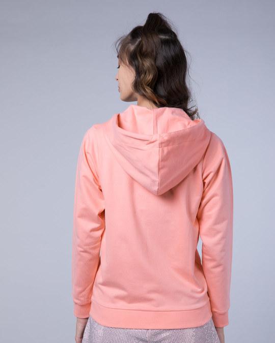 Shop Silver Pink Fleece Zipper Hoodies-Full