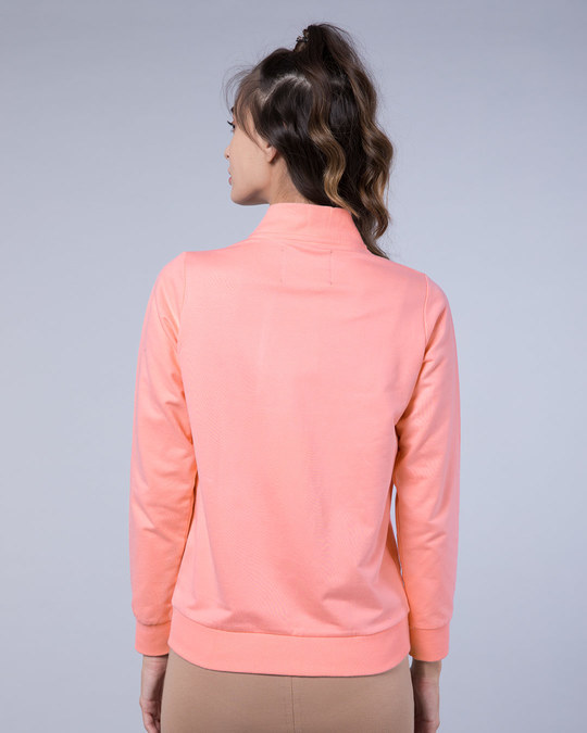 Shop Silver Pink Plain Zipper Bomber Jacket-Full