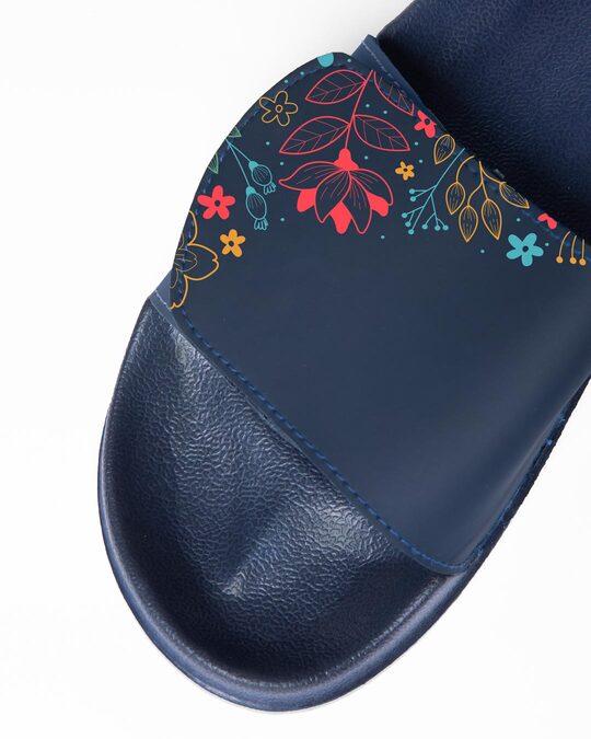 Shop Simple Floral Lightweight Adjustable Strap Women Slider