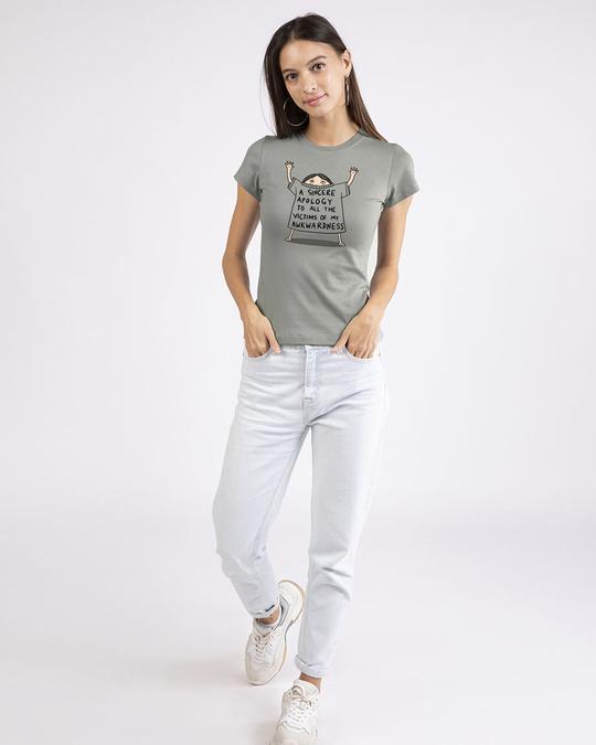 Shop Sincere Apology Half Sleeve T-Shirt-Design