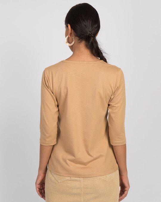 Shop Sincere Apology Round Neck 3/4th Sleeve T-Shirt-Back