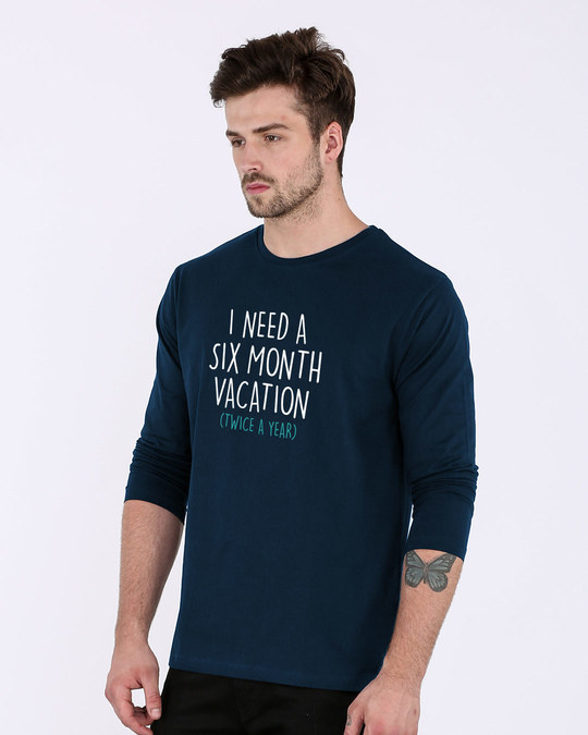 Shop Six Month Vacation Full Sleeve T-Shirt-Back