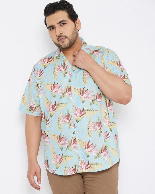 Shop Size Men Stylish Graphic Design Half Sleeve Casual Shirts-Back