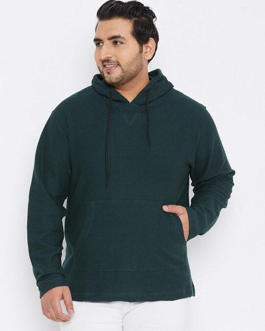 Shop Size Men Stylish Solid Full Sleeve Casual Sweatshirt-Front