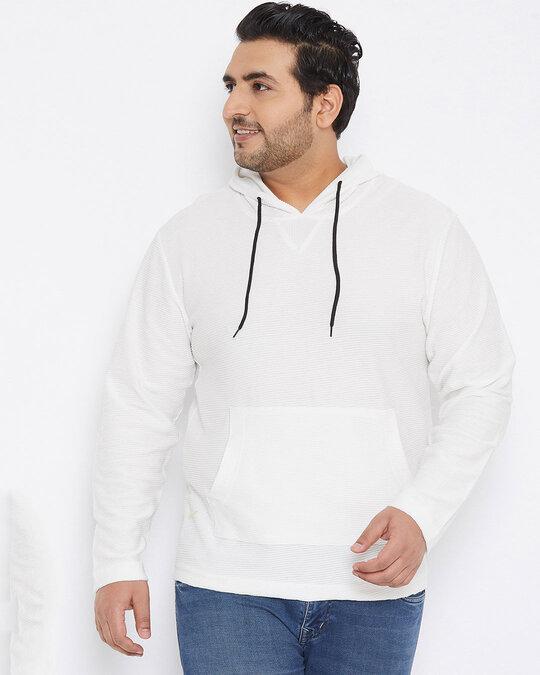 Shop Size Men Stylish Solid Full Sleeve Casual Sweatshirt-Back