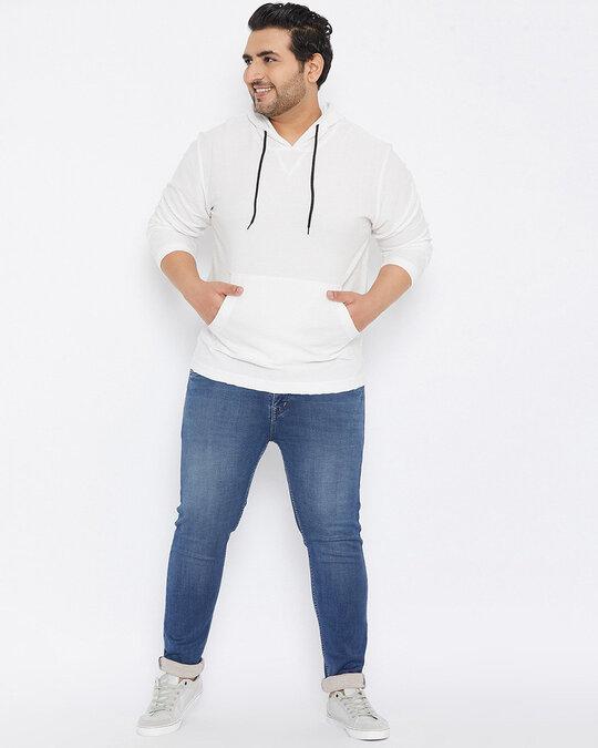 Shop Size Men Stylish Solid Full Sleeve Casual Sweatshirt