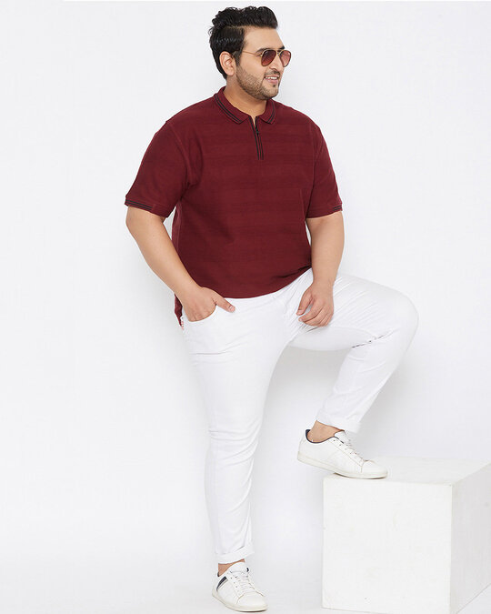 Shop Size Men Stylish Solid Half Sleeve Casual T Shirts
