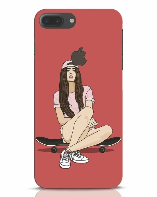 Shop Skater Girl iPhone 7 Plus Logo Cut Mobile Cover-Front