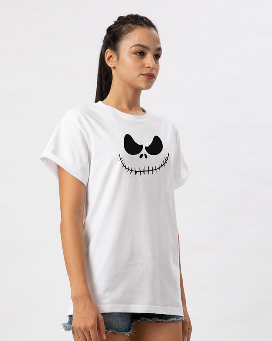 Shop Skellington Boyfriend T-Shirt-Back