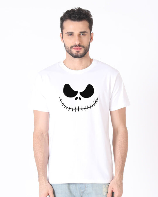 Shop Skellington Half Sleeve T-Shirt-Back