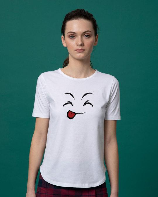 Shop Sketch Expression Basic Round Hem T-Shirt-Front