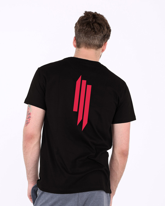 Shop Skrlx Back Print Half Sleeve T-Shirt-Front