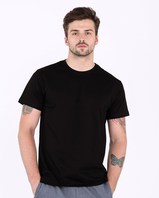Shop Skrlx Back Print Half Sleeve T-Shirt-Back