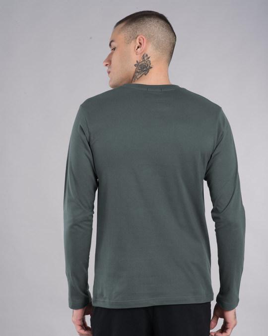 Shop Skull Beard Full Sleeve T-Shirt-Back
