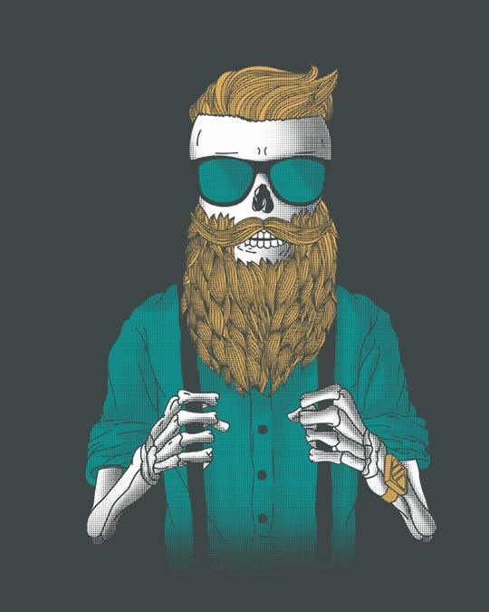 Shop Skull Beard Full Sleeve T-Shirt-Full