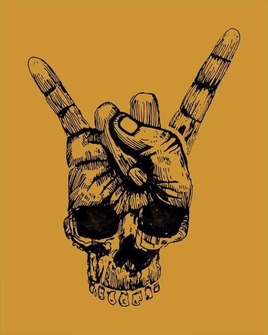 Shop Skull Horn Hand Full Sleeve T-Shirt