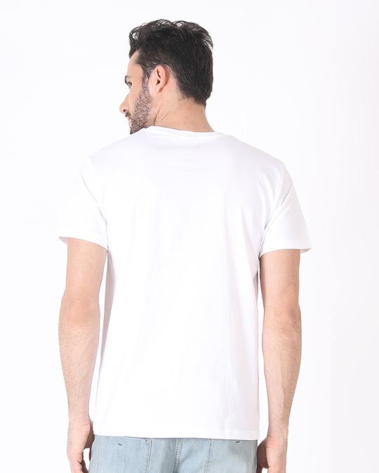 Shop Skull Horn Hand Half Sleeve T-Shirt-Full