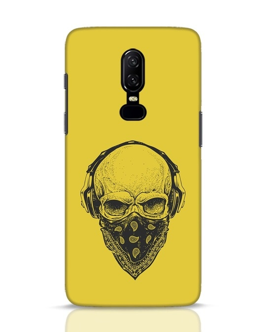 Shop Skull Scarf OnePlus 6 Mobile Cover-Front