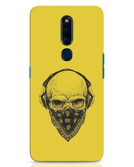 Shop Skull Scarf Oppo F11 Pro Mobile Cover-Front