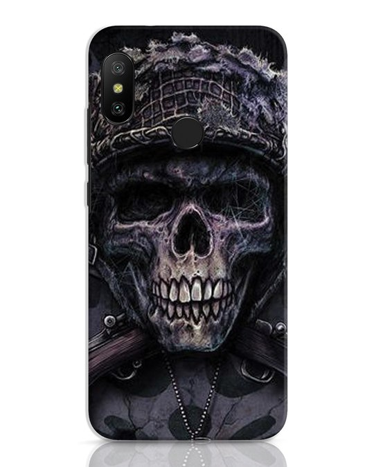 Shop Skull Xiaomi Redmi 6 Pro Mobile Cover-Front
