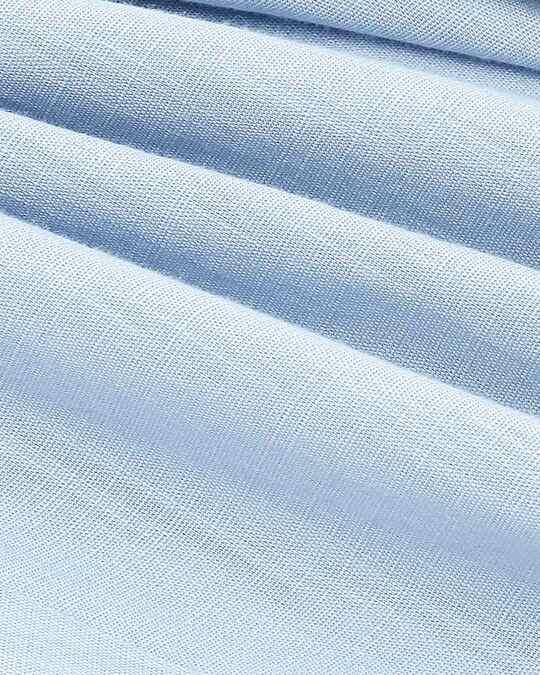 Shop Sky Blue Casual Cotton Pants