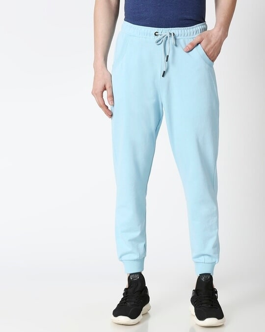 Shop Sky Blue Casual Jogger Pant-Back