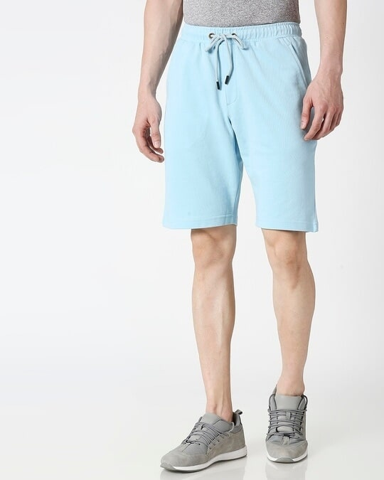 Shop Sky Blue Casual Shorts-Back
