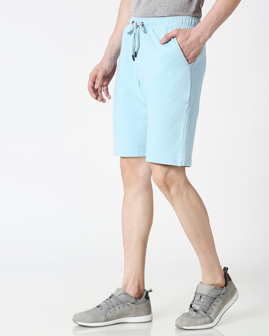 Shop Sky Blue Casual Shorts-Design