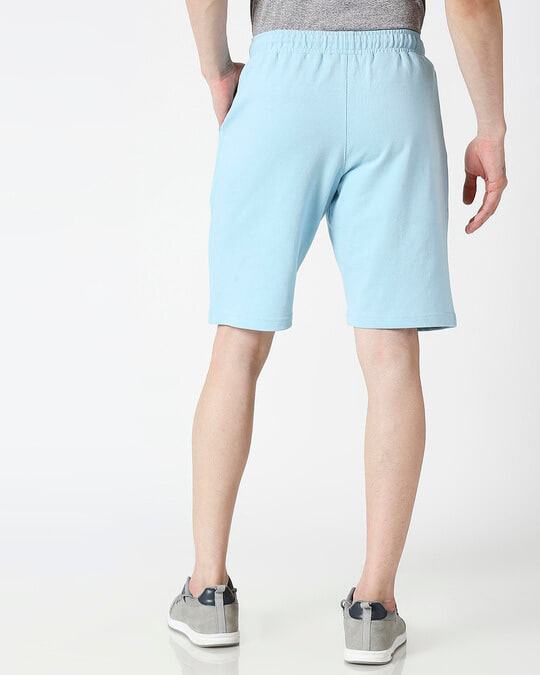 Shop Sky Blue Casual Shorts-Full