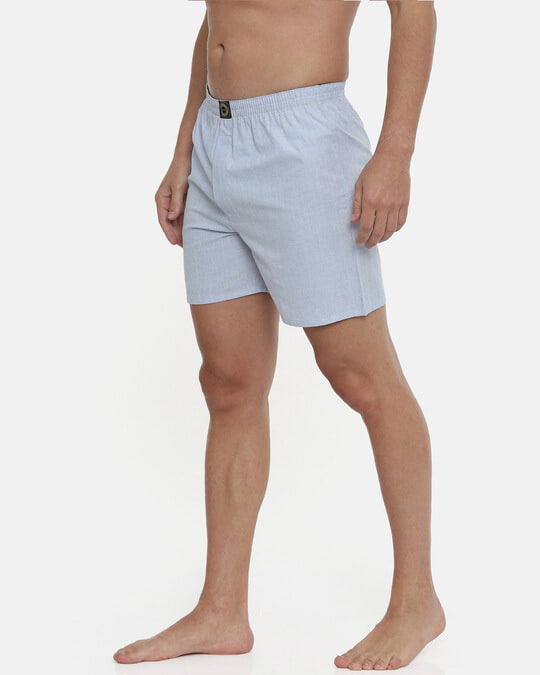 Shop | Sky Blue Chambre Plain Boxers-Back