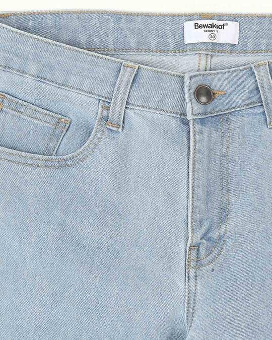 Shop Sky Blue Mid Rise Stretchable Women's Jeans