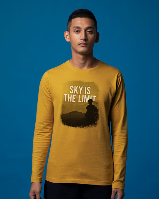 Shop Sky Is The Liimit Full Sleeve T-Shirt-Front