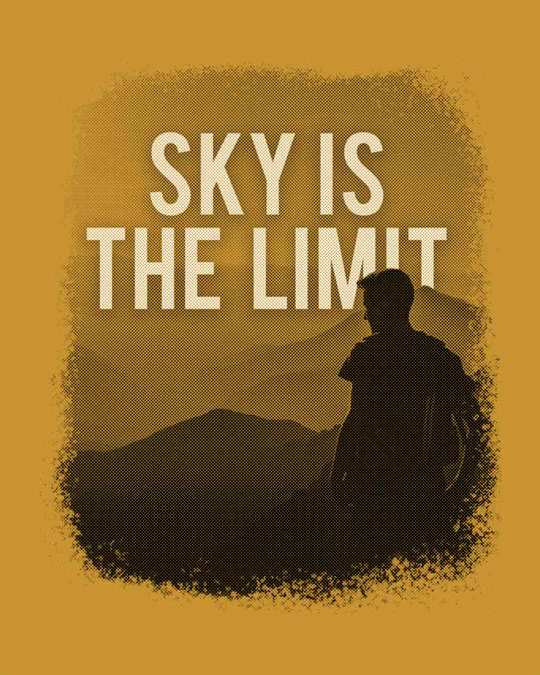 Shop Sky Is The Liimit Full Sleeve T-Shirt