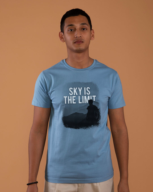 Shop Sky Is The Liimit Half Sleeve T-Shirt-Back