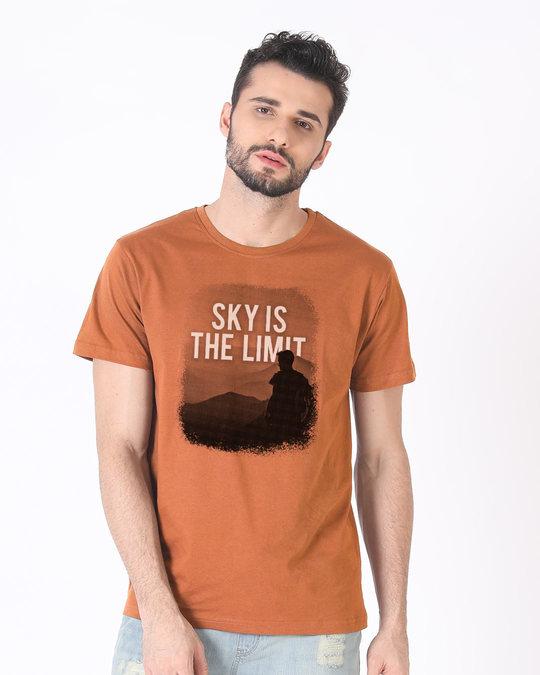 Shop Sky Is The Liimit Half Sleeve T-Shirt-Back